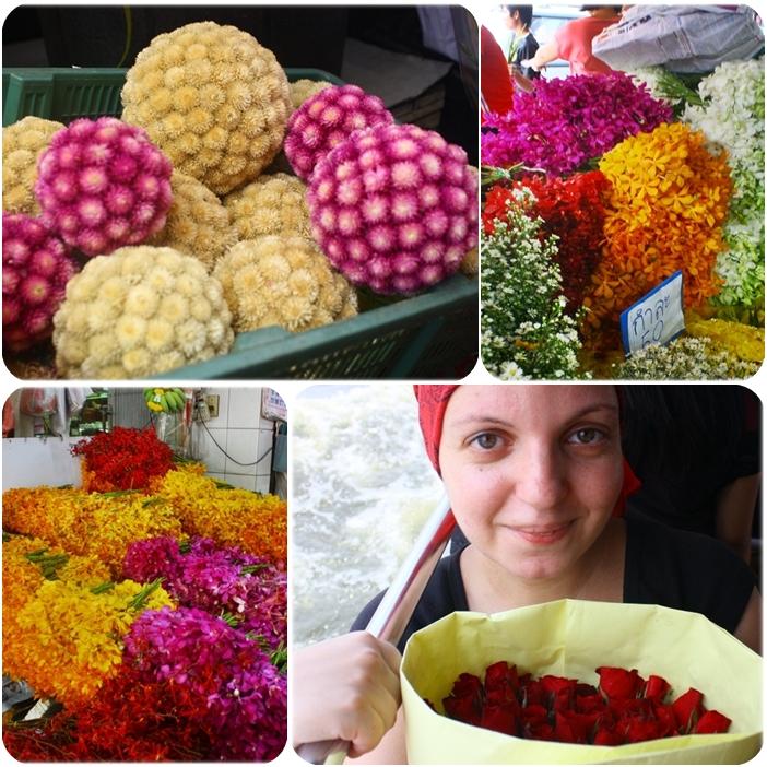 Бангкок, цветочный рынок