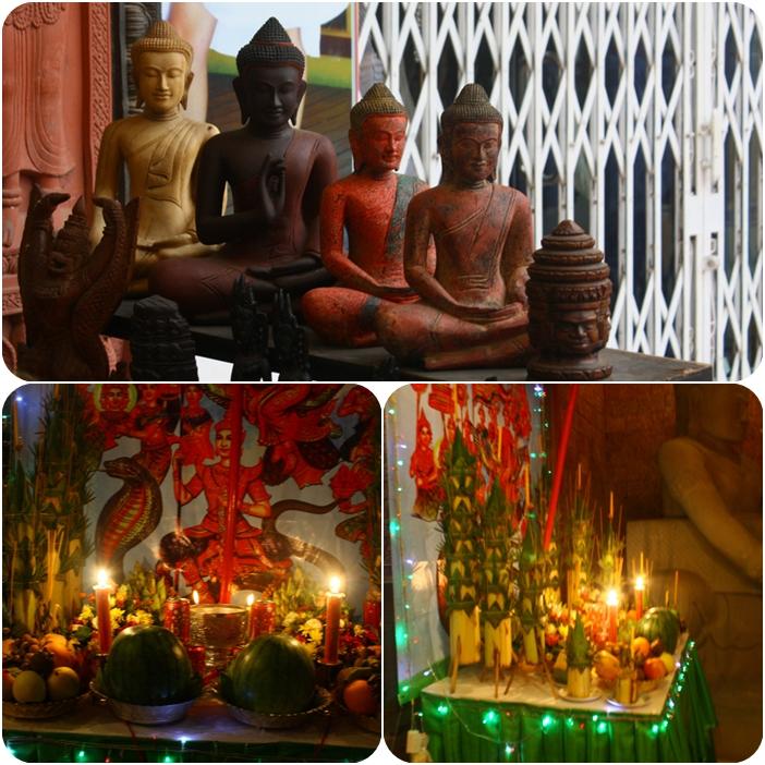 новый год в Камбодже - еда для духов